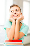 Happy smiling student girl with books Royalty Free Stock Photography