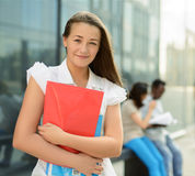 Happy smiling student girl Royalty Free Stock Photo