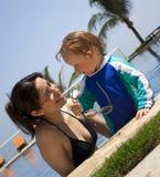 Happy smiling summer family. Vacation holiday or vacations fun Royalty Free Stock Photos
