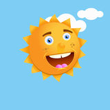 Happy smiling sun Royalty Free Stock Photography