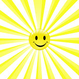 A happy smiling sun Stock Photos