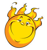 Happy smiling sun Royalty Free Stock Image