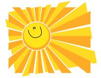 Happy Smiling Sun Summer Background Royalty Free Stock Photography
