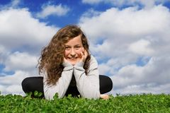 Happy smiling teen royalty free stock photos