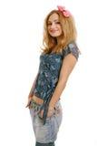 Happy smiling teen girl Stock Photo