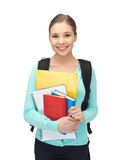 Happy and smiling teenage girl Stock Photos