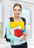 Happy and smiling teenage girl Stock Photography