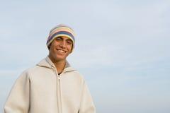 Happy smiling teenager boy Stock Photos