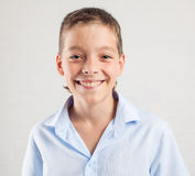 Happy smiling teenager. Happy boy. Smiling teenager at school Royalty Free Stock Photos