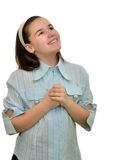 Happy smiling teenager girl schoolgirl Royalty Free Stock Photography