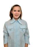 Happy smiling teenager girl schoolgirl Stock Photography