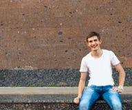 Happy smiling teenager Stock Photos