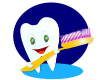 Happy smiling tooth. Illustration Stock Image