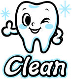 Happy smiling tooth (Clean) Royalty Free Stock Photo