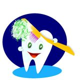 Happy smiling tooth illustration. Happy smiling tooth cartoon illustration royalty free illustration