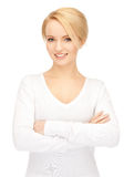 Happy and smiling woman. Royalty Free Stock Image