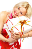 Happy smiling woman Royalty Free Stock Photos