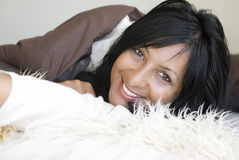 happy smiling woman Στοκ Εικόνες