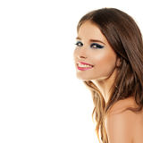 Happy Smiling Woman. Beautiful Fashion Model Stock Images