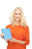 Happy and smiling woman with book Stock Photos