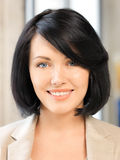 Happy and smiling woman. Bright picture of happy and smiling woman Stock Photography