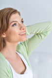 Happy smiling woman close up Stock Image