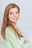 Happy smiling woman close up Royalty Free Stock Image