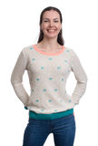 Happy smiling woman dressed in a blouse Royalty Free Stock Image