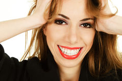Happy smiling woman face Stock Image