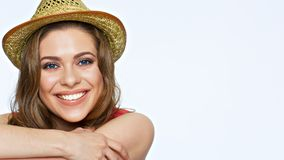 Free Happy Smiling Woman Face Portrait. Smile With Teeth. Stock Images - 112579694