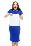 Happy smiling woman holding shopping bag Royalty Free Stock Images