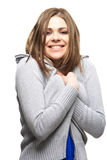 Happy and smiling woman isolated portrait Stock Photos