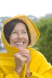 Happy smiling woman in rain Royalty Free Stock Photo