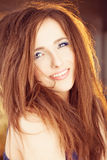 Happy Smiling Woman with Red Hair Stock Images