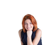 Happy smiling woman with red hair Royalty Free Stock Image