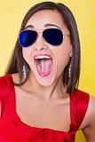 Happy smiling woman in sun glasses Royalty Free Stock Photo