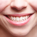 Happy smiling woman with teeth Royalty Free Stock Image