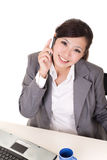 Happy smiling working business woman Stock Photos