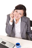 Happy smiling working business woman Stock Image