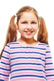 Happy, smiling, with ponytails Stock Photography