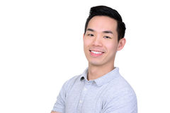 Happy smiling young Asian man Stock Photos