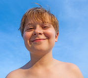 Happy smiling young boy Royalty Free Stock Photo