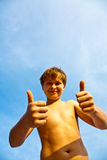 Happy smiling young boy Royalty Free Stock Image
