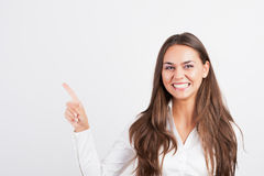 Happy smiling young business woman Royalty Free Stock Photos