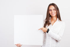 Happy smiling young business woman Royalty Free Stock Photo