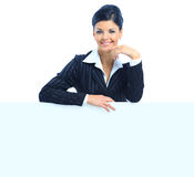Happy smiling young business woman Royalty Free Stock Image