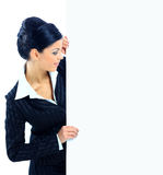 Happy smiling young business woman Stock Photos
