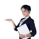 Happy smiling young business woman Stock Photography