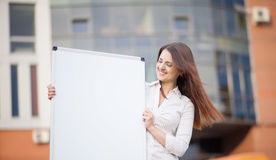 Happy smiling young business woman Stock Images