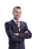 Happy smiling young businessman Royalty Free Stock Image